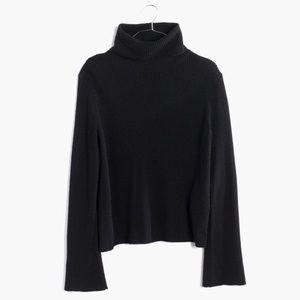 Madewell Bell-Sleeve Turtleneck Sweater